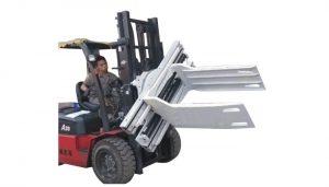 Bale Clamp Forklift ඇමුණුම් අපද්රව්ය කඩදාසි Bale Clamp
